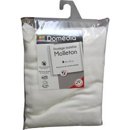 Protège matelas molleton 90x190 cm blanc
