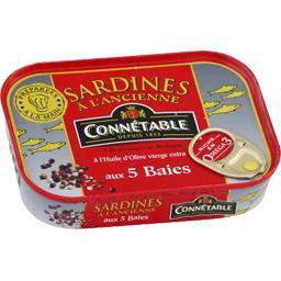 Sardines à l'ancienne à l'huile d'olive aux 5 baies