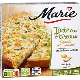 Marie Marie Tarte aux poireaux gratiné à l'emmental la boite de 400 g