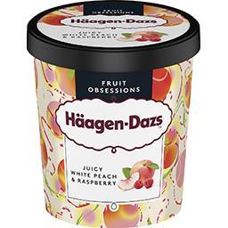 Häagen-Dazs Haagen-Dazs Fruit Obsessions - Crème glacée pêche blanche & framboise le pot de 400 g