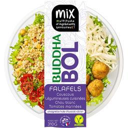 Mix Salade Buddha Bol couscous falafels chou blanc tomat...