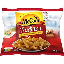 Mc Cain McCain Frites Tradition le sachet de 1,3 kg