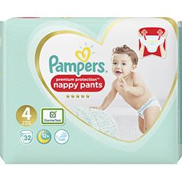 Pampers Pampers Couches-culottes premium protection nappy pants t4 Le paquet de 32 couches