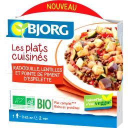 Les Plats Cuisinés - Ratatouille lentilles piment BIO