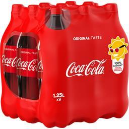 Coca-Cola Soda au cola les 9 bouteilles de 1,25 l