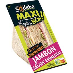 Sodeb'O Simple & Bon ! - Sandwich Maxi jambon salade emmenta...