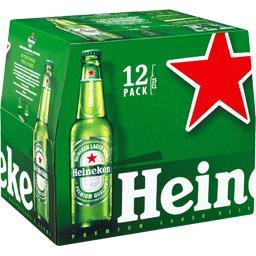 Heineken Heineken Bière blonde les 12 bouteilles de 25cl