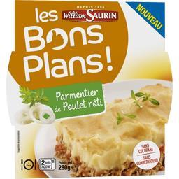 Les Bons Plans - Parmentier de poulet rôti