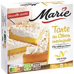 Marie Marie La Tarte au Citron Meringuée aux zestes de citron confits la boite de 550 g