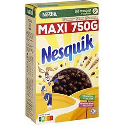 Nestlé Nestlé Céréales Nesquik - Céréales au chocolat la boite de 750 g
