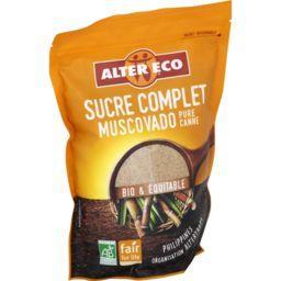 Alter Eco Alter Eco Sucre complet Muscovado pure canne BIO & équitable le paquet de 500 g