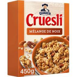 Quaker Quaker Cruesli - Céréales mélange de noix la boite de 450 g