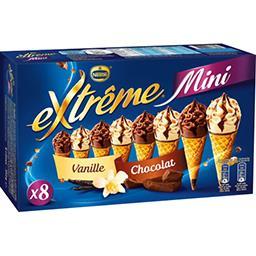 Nestlé Extrême Mini glaces vanille/chocolat la boite de 8 - 312 g
