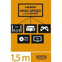 Câble HDMI haute vitesse Ethernet mâle/mâle tête pivotantes