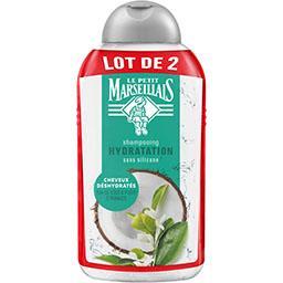 Le Petit Marseillais Shampooing hydratation eau de coco & fleur d'oranger