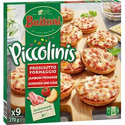 Buitoni Buitoni Piccolinis - Mini pizzas jambon fromage les 9 mini pizzas de 30 g