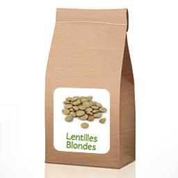 Lentilles blondes BIO en VRAC