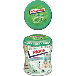 Hollywood Hollywood Chewing-gum Green Fresh parfum menthe verte sans sucres la boite de 60 dragées - 87 g
