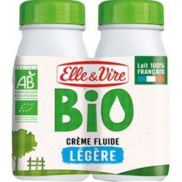 Elle & Vire Elle & Vire Crème fluide légère BIO les 2 briques de 25 cl