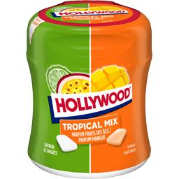 Hollywood Chewing-gum Tropical Mix fruits des îles/mangue sans...