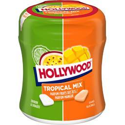 Hollywood Hollywood Chewing-gum Tropical Mix fruits des îles/mangue sans sucres la boite de 87 g