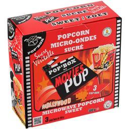 Movies Movies Pop' Box - Popcorn micro-ondes sucré les 3 boites de 100 g