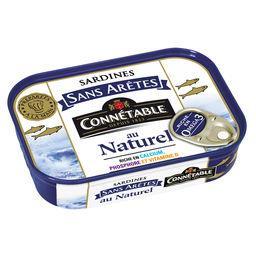 Connetable Connétable Sardines sans arêtes au naturel la boite de 98 g net égoutté