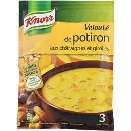 Knorr Knorr Soupe déshydratée, velouté de potiron aux châtaignes le sachet de 66g