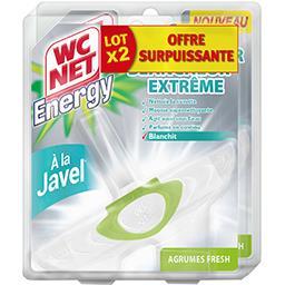 WC Net WC Net Energy - Bloc WC blancheur extrême à la javel Agrumes Fresh le lot de 2 blocs de 38 g