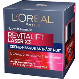 L'Oréal Revitalift - Crème-masque nuit anti-âge Laser X3