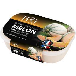 Sorbet melon, 49% de fruit