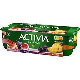 Activia - Lait fermenté au bifidus rhubarbe figue an...