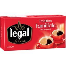 Legal Legal Café Tradition Familiale goût équilibré les 4 paquets de 250 g