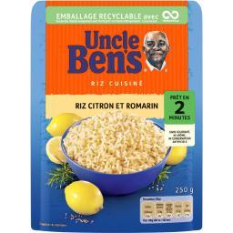 Uncle Ben's Uncle Ben's Riz citron et romarin le paquet de 250 g