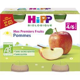 Mes Premiers Fruits - Purée de pommes BIO, dès 4/6 m...