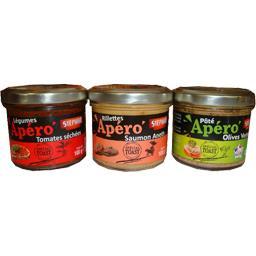 Assortiment Apéro tomates séchées/saumon aneth/olives vertes