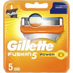 Gillette Gillette Fusion5 power lames de rasoir pour homme 5recharges La pack de 5 lames
