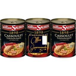William Saurin William Saurin Cassoulet toulousain à la graisse d'oie - 1898 le lot de 3 boites de 840 gr
