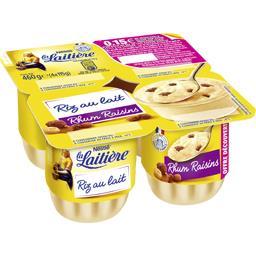 Nestlé La Laitière Riz au lait rhum raisins les 4 pots de 115 g - Offre découverte