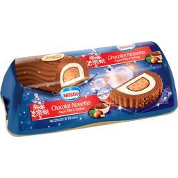 Bûche glacée chocolat noisettes façon pâte à tartine...