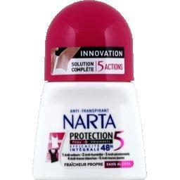 Narta Déodorant Protection 5 peau + vêtements, fraîcheur p...