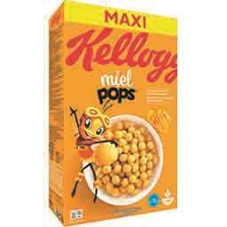 Kellogg's Kellogg's Miel Pops - Céréales maïs soufflé au miel la boite de 620 g - Maxi Format