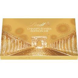 Lindt Champs-Elysées - Assortiment de chocolats Edition Or... la boite de 17 - 182 g