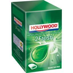 Dragée 2 Fresh menthe verte chlorophylle sans sucre ,HOLLYWOOD,x3 66g