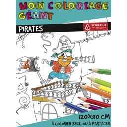 Coloriage géant Les Pirates 80x120 cm