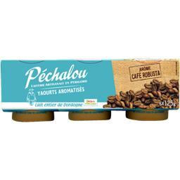 Péchalou Yaourts aromatisés café robusta les 6 pots de 125 g