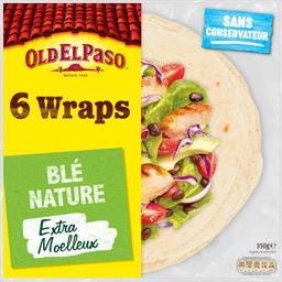 Old El Paso Old El Paso Wraps blé nature le paquet de 6 - 350 g