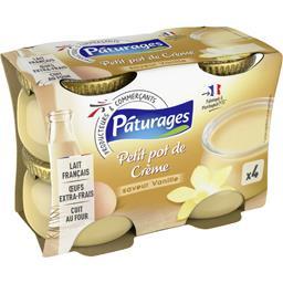 Petit pot de crème saveur vanille