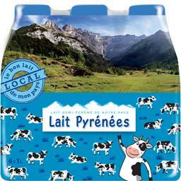 Lait Pyrénées demi-écrémé