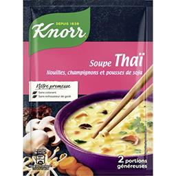 Knorr Knorr Soupe Thaï, nouilles, champignons et pousses de soja le sachet de 69 g
